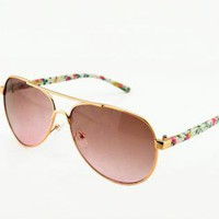 Flora Print Leg Sunglasses for Women-j BX003