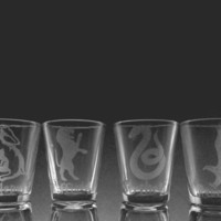 Harry Potter House Logo Shot Glass Set of 4