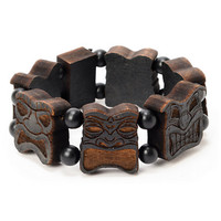 Good Wood NYC Black Totem Wood Bracelet at Zumiez : PDP
