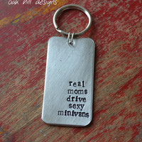 hand stamped aluminum keychainperfect for moms by OakHillDesigns