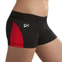 GymTek Red Techmesh Panel Gymnastics Shorts from GK Elite