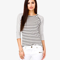 Contrast Striped Baseball Tee | FOREVER 21 - 2031656790