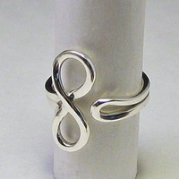 Infinity Eternity Symbol Ring Sterling | LaraJordanJewelry - Jewelry on ArtFire