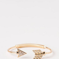 Gaston Ave Crystal Arrow Bangle                       - Francescas