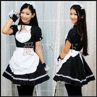 Amour- New Japanese Cosplay Lolita French Maid Costume Dress L Size:Amazon:Toys & Games