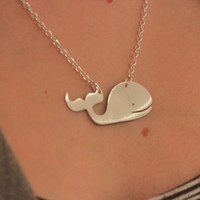 Whale sterling silver necklace by OrangeSherbet1 on Etsy