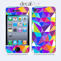 Iphone 4 Skin & iphone 4S Skin Geometric Pattern by Decalster