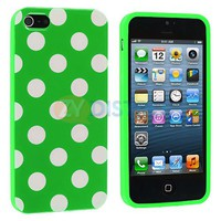 Color TPU Polka Dot Rubber Skin Case Cover for Apple iPhone 5 5G 5th