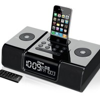 iHome iP9 Speaker Dock with Clock Radio for iPod and iPhone (Black):Amazon:MP3 Players & Accessories