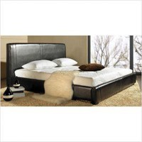 Abbyson Living Livingston Leather Bed in Cappuccino