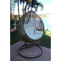 Trully - Outdoor Wicker Swing Chair - The Great Hammocks DL003-AB