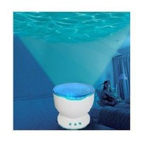 Ocean Waves Projector Lamp Projection / Romantic Christmas Gift LED Light Relaxing Ocean Project Pot