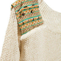 SWEATER WITH ETHNIC SHOULDER PADS - Cardigans and sweaters - Girl - Kids | ZARA Croatia