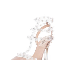 Valentino | Naked Rockstud T.100 in Transparent Poudre www.FORWARDbyelysewalker.com