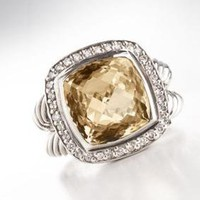 David Yurman 11mm Champagne Citrine Albion Ring