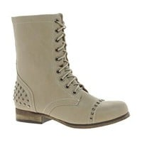 New Look Besto Studded Lace Up Boots at asos.com