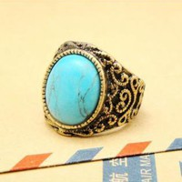 Vintage Style Turquoise Ring KQA121