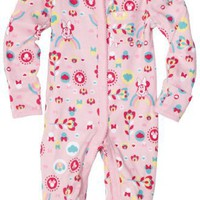 Disney Baby-Girls Newborn Minnie Mouse Floral Rainbow Sleep and Play Romper, Pink, 6-9 Months