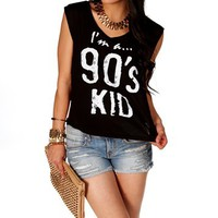 Black/White I'm A.. 90's Kid Tank