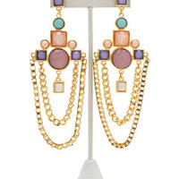 Jeweled-Chandelier-Earrings BLACKGOLD LILACGOLD - GoJane.com