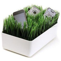 ThinkGeek :: Grassy Lawn Charging Station