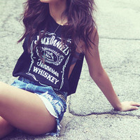 Jack Daniels Label Muscle Tank from ShopWunderlust