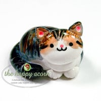 Your Cat Personalized Customized Cat Figurine - Cat Lover Cake Topper or Keepsake Tribute Memorial Figure