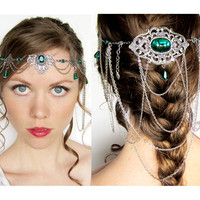 Green and Silver Elven Circlet Headdress