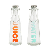 2-Pc. Set of Juice and Water Bottles