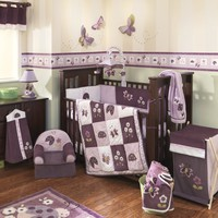 Lambs and Ivy Luv Bugs 4 Piece Baby Crib bedding Set