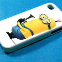 Minion on Despicable me 2 Photo Design for iPhone 4/4S and iPhone 5 Case