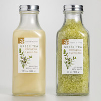 Green Tea & Lemongrass Bubble Bath or Bath Salts - World Market