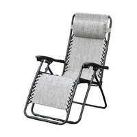 Outsunny Zero Gravity Recliner Lounge Patio Pool Chair - Granite Gray Color:Amazon:Patio, Lawn & Garden