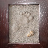 Pressions Handprint and Footprint Kit, Mahogany