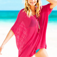Open-stitch Poncho Cover-up Sweater - A Kiss of Cashmere - Victoria's Secret