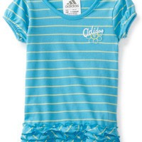 adidas Baby-Girls Infant Swivel Stripe Top, Medium Blue, 18 Months