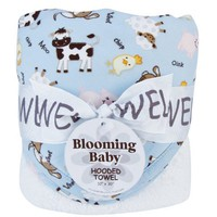 Trend Lab Hooded Towel, Baby Barnyard