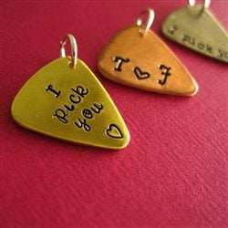 Mini Guitar Pick Pendant - Spiffing Jewelry