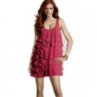 Bqueen Chiffon Vest Dress BY118R - Designer Shoes|Bqueenshoes.com