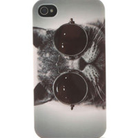 With Love From CA Cat Sunglasses 4/4S iPhone Case at PacSun.com