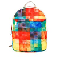 Colorful Grids BackpackLaptop Bag