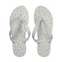Dots Pastel Sandal Flip Flops from Zazzle.com