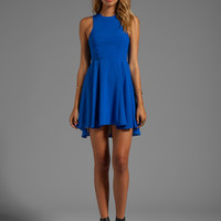 Naven EXCLUSIVE Jackie Circle Skirt Dress in Blue