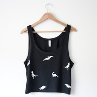 NEW - Dinosaur Crop Tank
