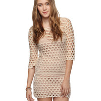 Wool-Blend Crochet Dress | FOREVER21 - 2000036091