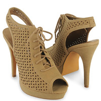Perforated Slingback Heels | FOREVER21 - 2015035596