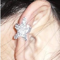 Sparkly Starfish Ear Cuff by LJAN on Zibbet