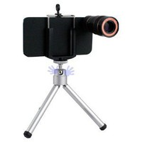HandHelditems(TM) iPhone 4 and 4S Camera Kit with 8X Camera Zoom Lens with Mini Tripod and Special Case (Free HandHelditems Sketch Universal Stylus Pen)