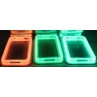 Buy Here Click Here Orange Translucent Glow in the Dark Premium Bumper Case for Apple iPhone 4
