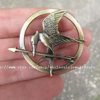 SALE -brass The Hunger Games Inspired Mockingjay brooch with a pin at the back